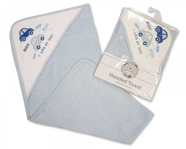 *BW097, Baby Hooded Towel - Car £3.50.   pk3...