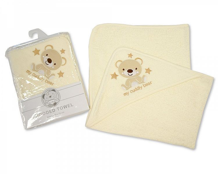 *BW087, Baby Hooded Towel - My Cuddly Bear £3.50.  PK3...