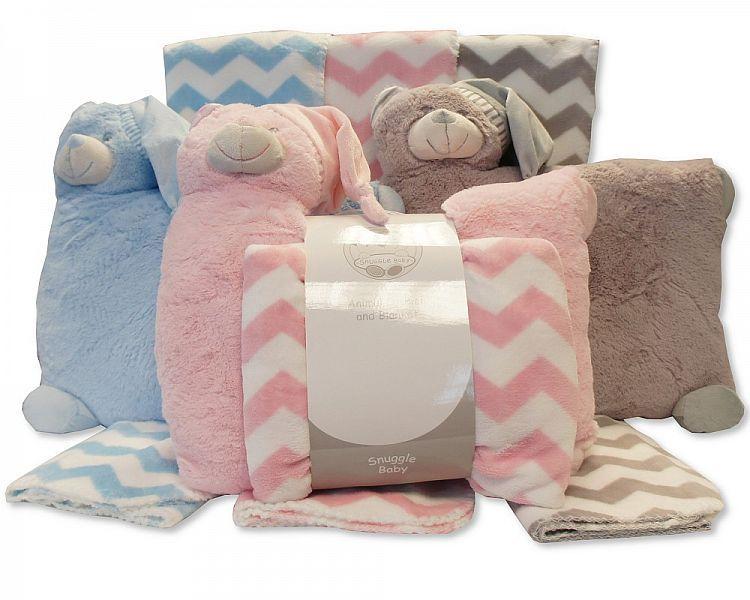 GP913, Plush Animal Cushion with Blanket £7.15.  PK6...