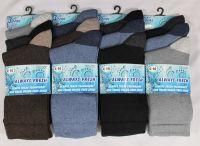 AF1505, Mens coloured heel & toe socks, 1 dozen..