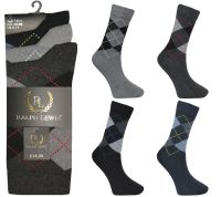 RL2056, Mens argyle design socks £3.75 per dozen, 10 dozen....