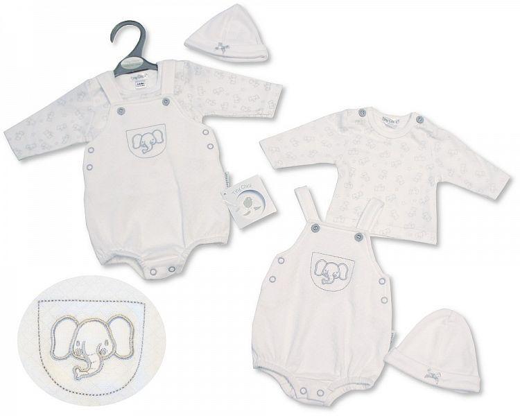 PB336, Premature Baby 2 Pieces Romper Set with Hat - Elephant £6.75.  PK6..