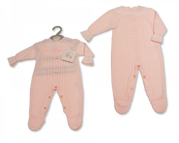 BW926, Knitted Baby Girls Long Romper £10.60.  PK6..