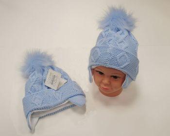 BW459S, Baby Boys Pom-Pom Hat with Cotton Lining £5.95.  PK6..