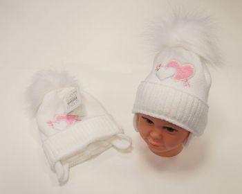 BW458W, Baby Girls Pom-Pom Hat with Cotton Lining £6.50.  PK6..