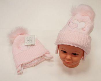 BW458P, Baby Girls Pom-Pom Hat with Cotton Lining £6.50.  PK6..