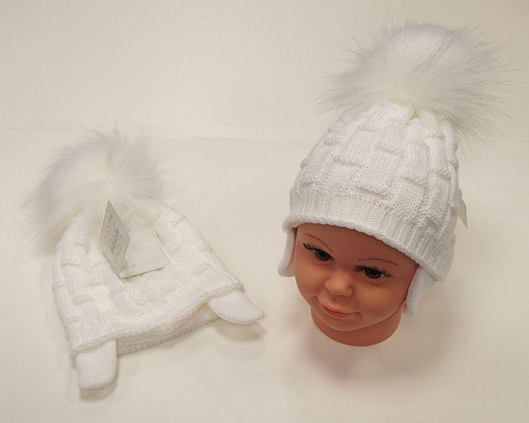BW457W, Baby Boys Pom-Pom Hat with Cotton Lining £5.95.  PK6...