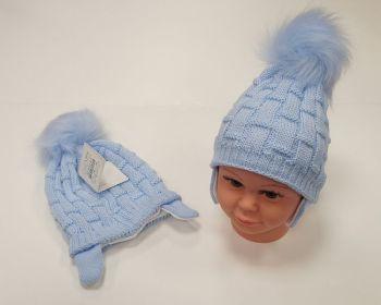 BW457S, Baby Boys Pom-Pom Hat with Cotton Lining £5.95.  PK6...