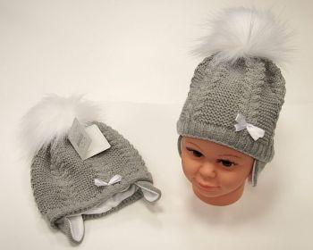 BW456G, Baby Pom-Pom Hat with Cotton Lining £5.95.  PK6..
