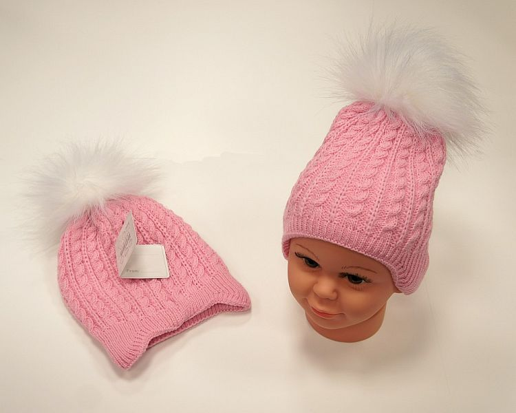 BW455P, Baby Girls Pom-Pom Hat with Cotton Lining £5.95.  PK6..