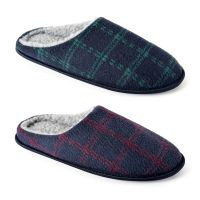 FT1373, Mens checked mule £3.60.  pk24...