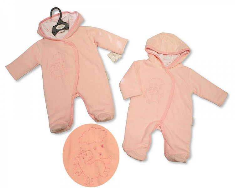 BIS2143, Baby Girls Padded and Hooded All in One - Unicorn £8.95.  PK6..