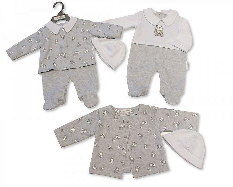 BIS2302, Baby 2 Pieces Set with Hat - Panda £7.20.  PK6..