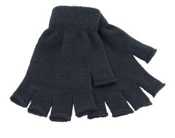 GL300, Mens fingerless gloves - black, 1 dozen...