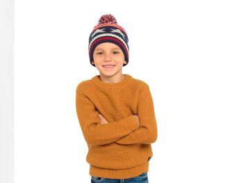 GL905, Kids Star/Stripe Bobble Hat £1.30.  pk12..