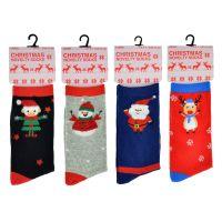 "SK254A, Ladies ""Christmas"" novelty socks £6.35 a dozen,  6 dozen..."