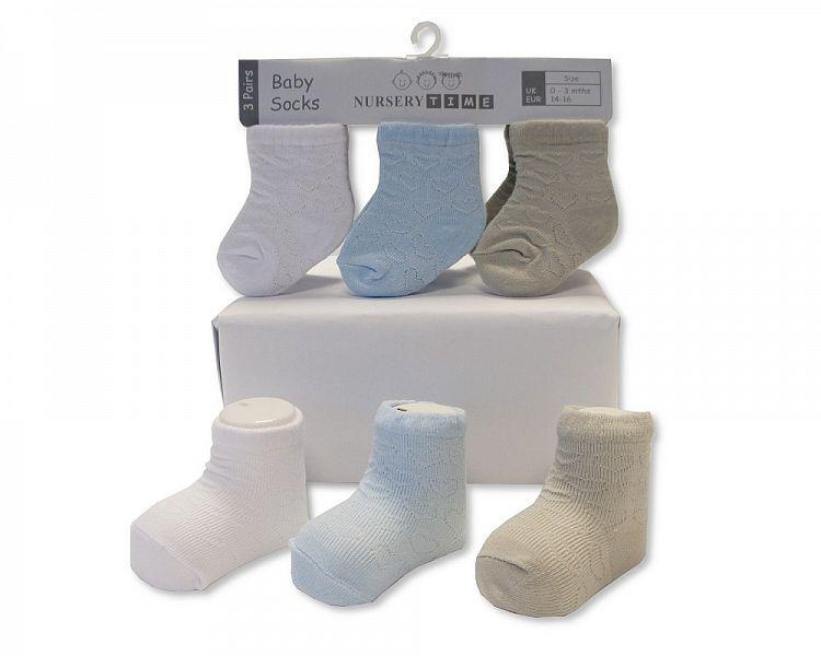 BW2206, Baby Boys 3 in a pack socks £1.40.  8pks..