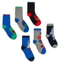 42B621, Boys 3 in a pack cotton rich design socks £1.20.  24pks...