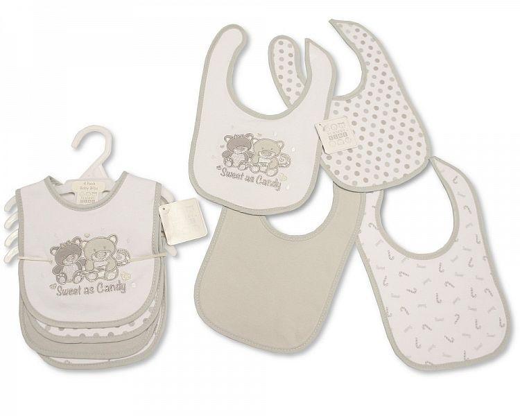 BW750, Baby Bibs 4 Pack - Sweet As Candy £3.20.   6PKS...
