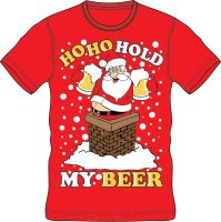 21A1419, Adults Christmas T shirt - HoHo Beer £2.50.  pk24..