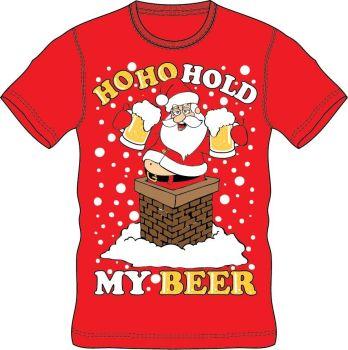 21A1419, Adults Christmas T shirt - HoHo Beer £2.50.  pk24..