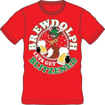 21A1423, Adults Christmas T shirt - Brew £2.50.  pk24..