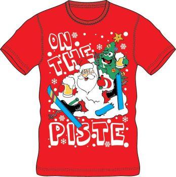 21A1417, Adults Christmas T shirt - Piste £2.50.  pk24..