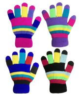 GLM76, Kids Multicolour Magic Gloves With Lining, 1 dozen...
