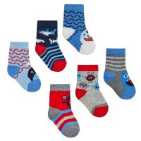 44B825, Baby Boys 3 in a pack cotton rich design socks £1.05.   24pks...