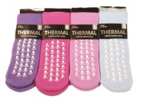 SK805,  Ladies gripper thermal slipper socks £0.75.   1 dozen....