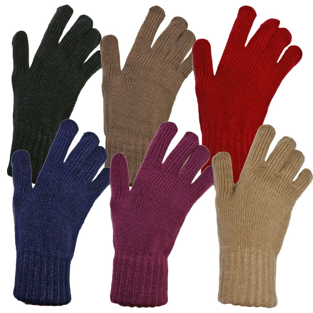 GLA131, Ladies thermal gloves in assorted colours, 1 dozen..