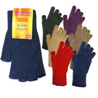 GLA133, Ladies fingerless gloves in assorted colours, 1 dozen..