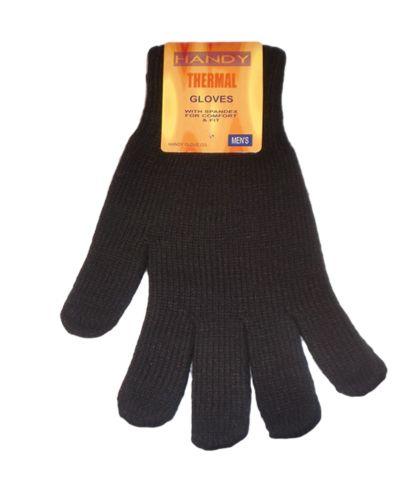 GLA134, Mens black thermal gloves, 1 dozen.....