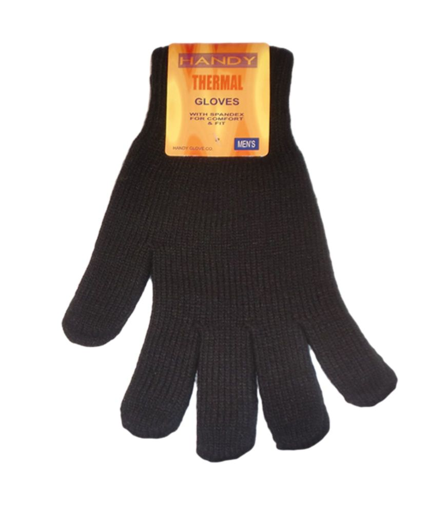 GLA134, Mens black thermal gloves, 1 dozen.....