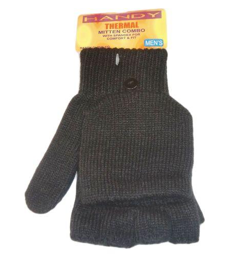 GLA140, Mens capped thermal black gloves, 1 dozen...