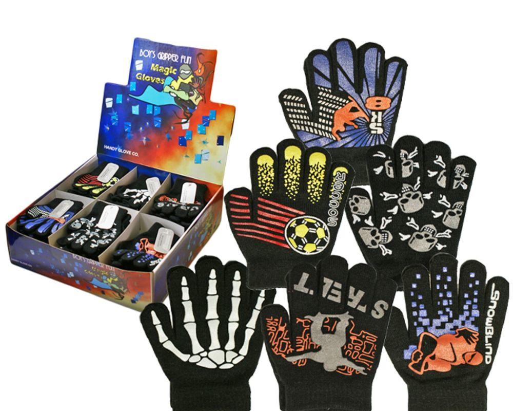 GLM98, Boys gripper fun magic gloves £6.85 a dozen.  3 dozen in a display b