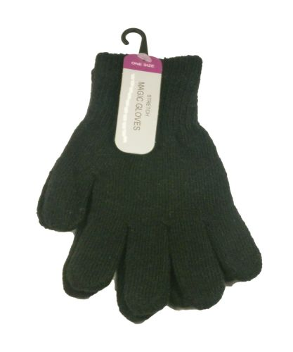GLM99, Adults black magic gloves.  1 dozen...