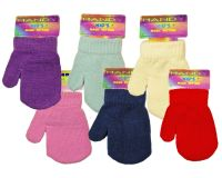 GLM102, Kids plain magic mittens, 1 dozen...
