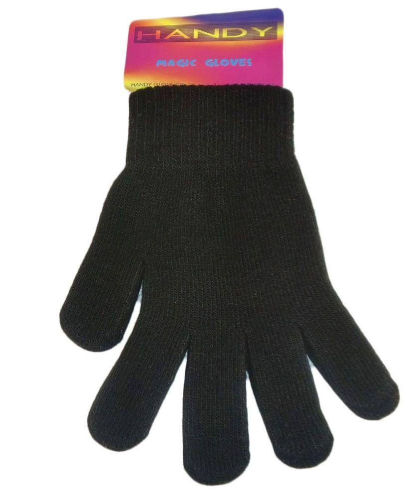 GLM105, Ladies black magic gloves £0.39.  pk12..