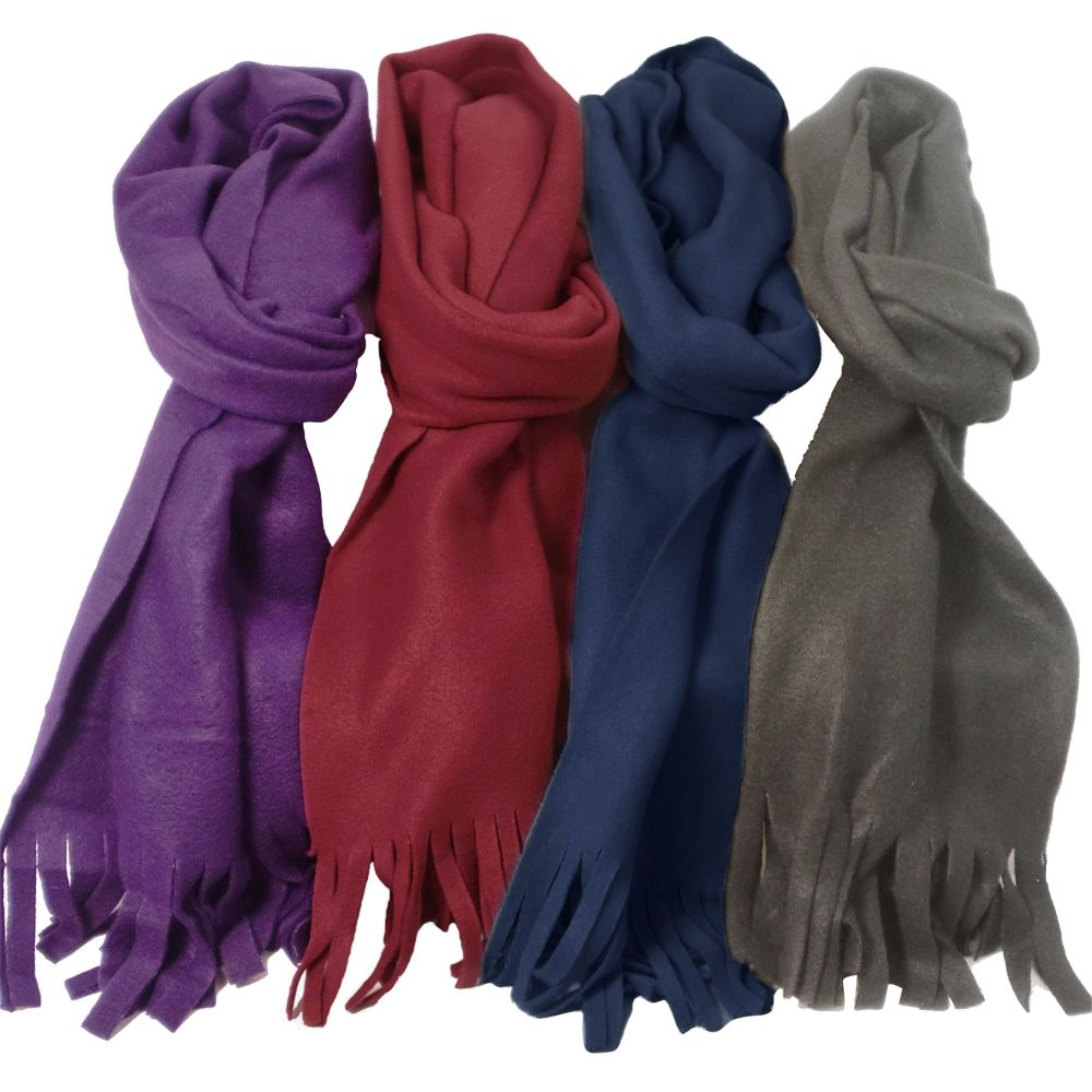 SC509A, Ladies fleece scarf in assorted colours £1.25. pk12..