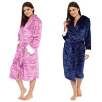 LN1040, Ladies Marl Effect Fleece Robe £9.95.  pk12..