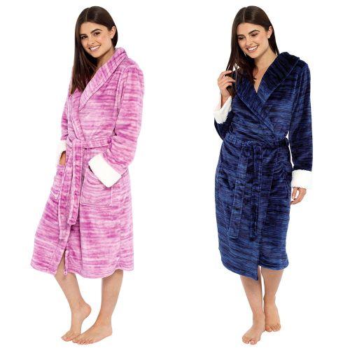 LN1040, Ladies Marl Effect Fleece Robe £9.95.  pk12..