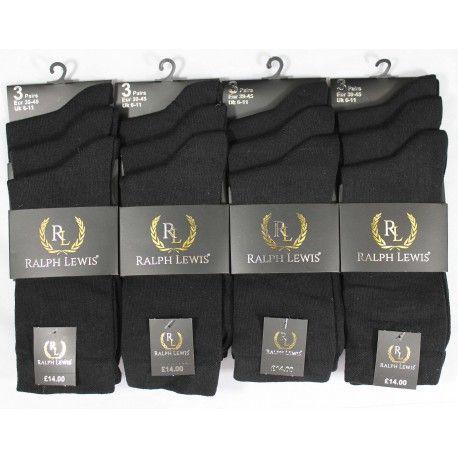 RL5004, Mens Black socks.  1 dozen...