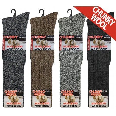 RL5708, Mens Long Hose Chunky Wool Blend Socks.  1 dozen..