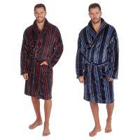 31B1331, Mens Stripe Flannel Shawl Collar Gown £9.75.  pk18...