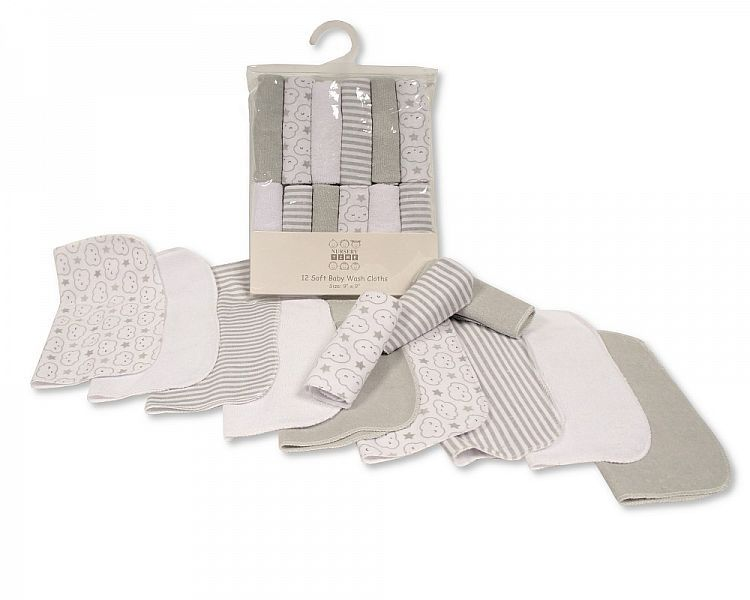 *GP952, Baby 12 in a Pack Wash Cloths -Unisex £2.75.   6pks...