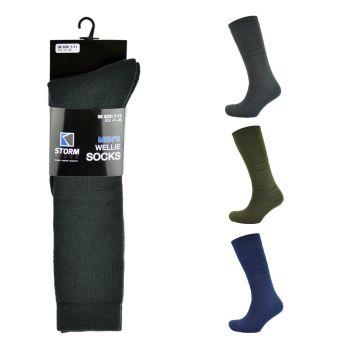 SK093, Mens Wellington Boot Socks £1.40.  PK24.......