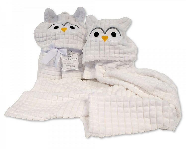 *BW1018, Baby Hooded Wrap - Owl £4.95.  PK2..