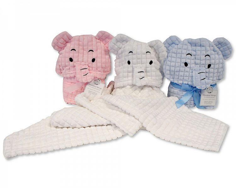 *BW1017, Baby Hooded Wrap - Elephant £4.95.  PK2..