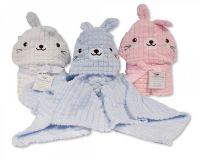*BW1016, Baby Hooded Wrap - Rabbit £4.95.  PK2..